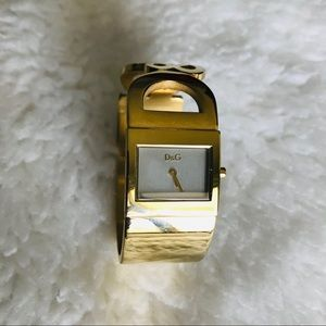 Dolce & Gabbana Women's Gold Tone Bangle Watch